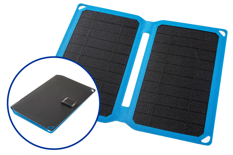Kings 10W Portable Solar Panel | 2-Amp Fast-Charging USB Socket